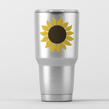 Sunflower Yeti Cup Decal| Flower Car Window Decal | Flowers | Yeti Sticker | Flower yeti cup