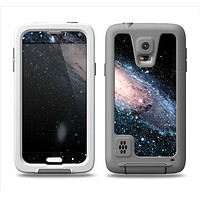The Swirling Glowing Starry Galaxy Samsung Galaxy S5 LifeProof Fre Case Skin Set