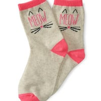 PS from Aero  Kids' Meow Crew Socks
