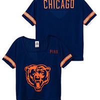 Chicago Bears Cropped V-Neck Athletic Jersey - PINK - Victoria's Secret