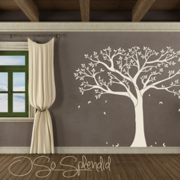 Large Family Tree of Life wall decal - vinyl wall sticker - silhouette -  black u0026
