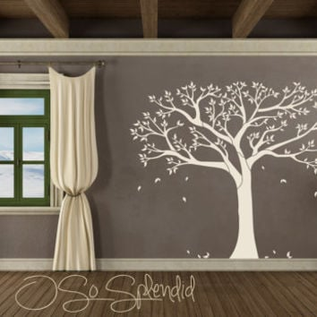 Large Family Tree Of Life Wall Decal   Vinyl Wall Sticker   Silhouette    Black U0026