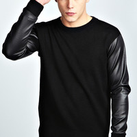 Crew Neck Jumper with Scuba Sleeve