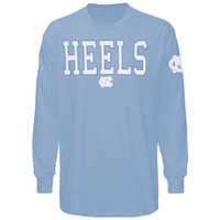 North Carolina Tar Heels :UNC:  Dangled Long Sleeve Long Sleeve T-Shirt - Carolina Blue