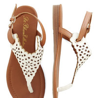 ModCloth Festival Plucky for You Sandal