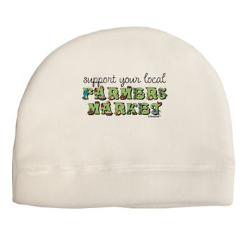 Support Your Local Farmers Market - Color Adult Fleece Beanie Cap Hat