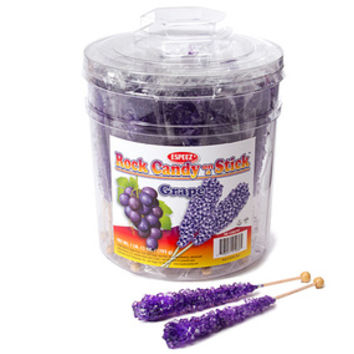 Rock Candy Crystal Sticks - Purple: 36-Piece Tub