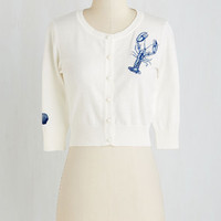 Nautical Short Length 3 The Long Arm of the Lobster Cardigan by ModCloth
