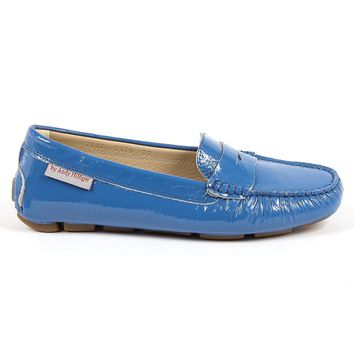 Andrew Charles Womens Loafer Blue E Max