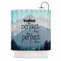 """Robin Dickinson """"A Perfect Day"""" Gray Blue Shower Curtain"""