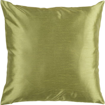 Surya Solid Luxe Throw Pillow Green