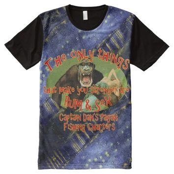 Captain Dan's Pagan Fishing Charters All-Over-Print T-Shirt