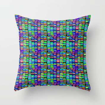 Rainbow 17 Throw Pillow by Zia