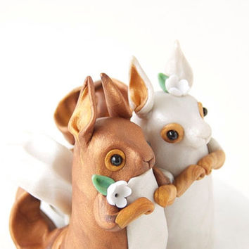 Red Squirrel Wedding Cake Topper by Bonjour Poupette