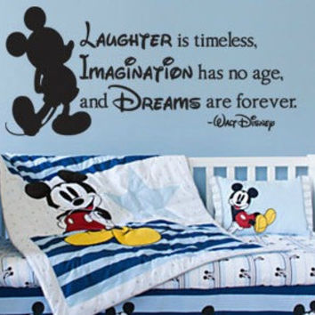 Disney Inspired Laughter Imagination Dreams Vinyl Wall Decal Sticker