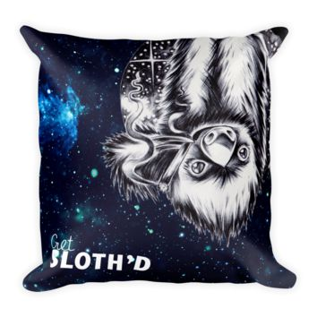 Deep Space Sloth - Square Pillow