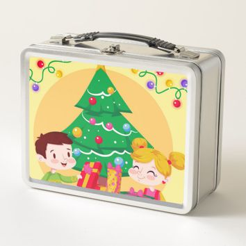 Christmas Kids Metal Lunch Box