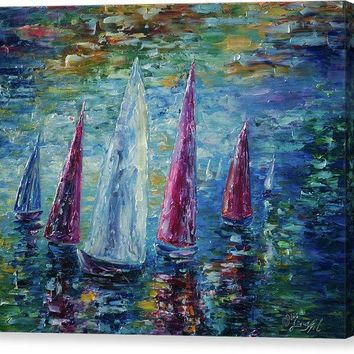Sails To-night - Canvas Print