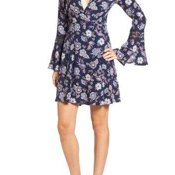 ASTR Lace Inset Fit & Flare Dress | Nordstrom