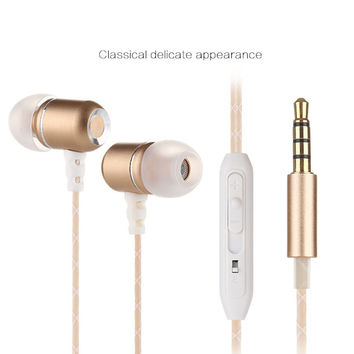 Flex Earbud headphones, Dual EQ Modes Wired Stereo In-ear headphones earbuds with mic +Gift Box