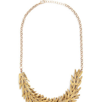 ModCloth Statement Frond and On Necklace