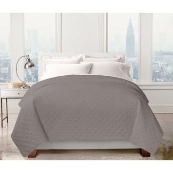Regal Home Collections Carson Pinsonic Quilt (Full/Queen) - Grey - Walmart.com