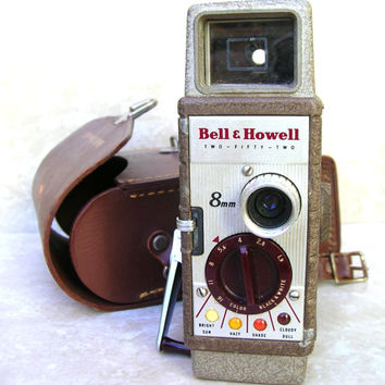 Vintage Bell and Howell Video Camera - Two Fifty Two Metal Video Camera - Mid Century Camera - 1950s Camera