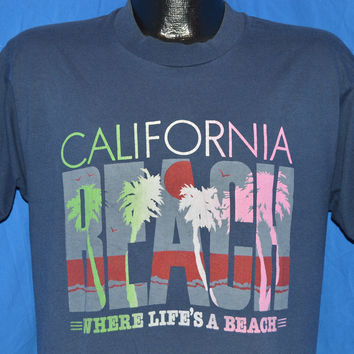 90s California Beach Sunset t-shirt Large