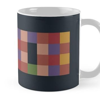 'Mosaic Game Blue ' Mug by Anna Lemos