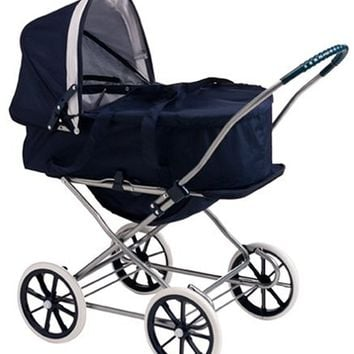 Badger Basket English Style 3-in-1 Doll Pram, Carrier, and Stroller (fits Ameri