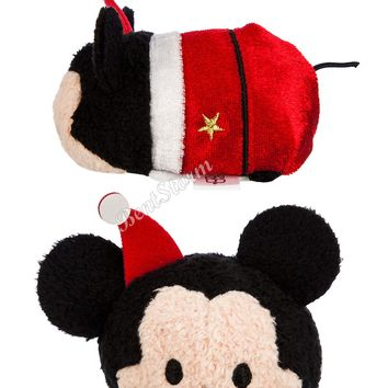 """Licensed cool 2015 Tsum Tsum HOLIDAY MICKEY MOUSE Mini Plush 3.5""""  Christmas Toy Disney Store"""
