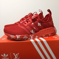 Louis Vuitton x Adidas NMD Boost - Red