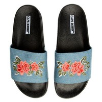 DCCKLP2 Cape Robbin Moira-59 Women's Light Blue Slides