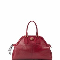 Gucci RE(BELLE) Large Leather Top Handle Bag