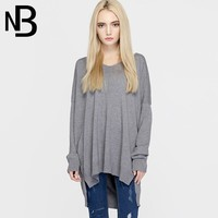 V-neck Long Sleeve Knit Bottoming Shirt 2016 Fall Winter Style [8906290503]