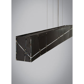 Tech Lighting 700LSCRSS-LED Crossroads Steel LED Linear Suspension Pendant