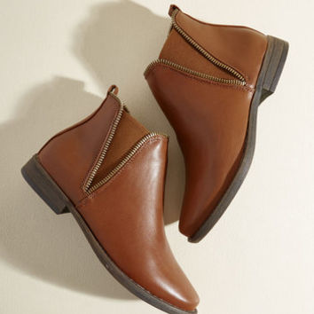 Gettin' Zippy With It Bootie | Mod Retro Vintage Boots | ModCloth.com