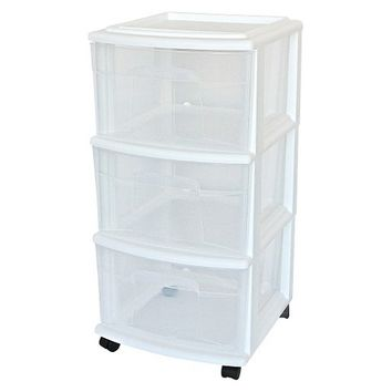 Room Essentials 3-Drawer Medium Cart - White