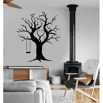 Vinyl Wall Decal Family Tree Nature Swing For Kids Stickers (3483ig)
