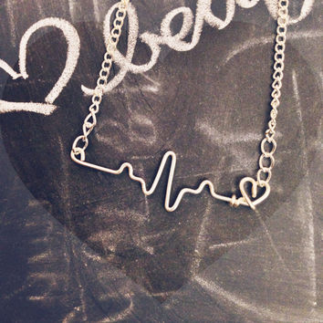 heartbeat (EKG) necklace.