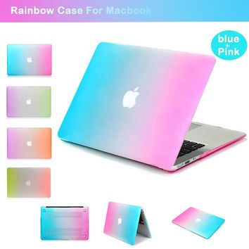 Laptop Protective Case for Apple Macbook 15.4Retina A1286 Rainbow Case for Macbook air/pro/retina 13.3 A1369 A1502 A1278