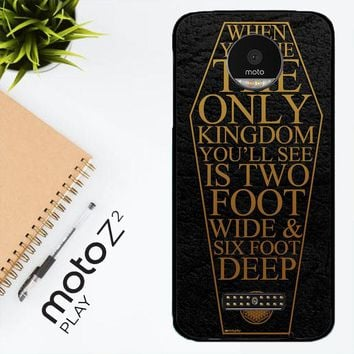 Bring Me The Horizon Coffin The House Of Wolves Quote F0353 Motorola Moto Z2 Play Case