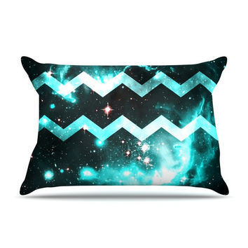 "Alveron ""Aqua Galaxy Chevron"" Pillow Case"