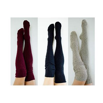 Thigh High Socks Wine Black Oatmeal Cosplay Outfit Costume Character Gift Set Girlfriend