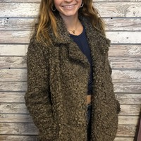 Teddy Bear Jacket- Brown