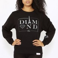 Diamond Supply, Paris Women's Crewneck - Black - Diamond Supply Women's - MOOSE Limited