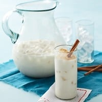Horchata - Martha Stewart Recipes This cinnamon-vanilla rice drink is a frothy Mexican classic..