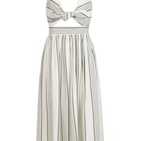 Rope Stripe Bow Midi Dress | Topshop