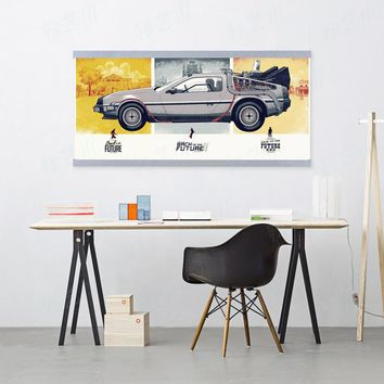 Back To The Future Car Vintage Retro A4 Large Pop Film Movie Art Prints Poster Wall Picture Canvas Painting No Framed Home Decor