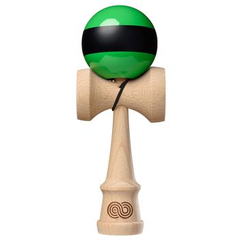 Tribute x Kaizen 2.0 Mashup Kendama - Green / Black Stripe - Beech